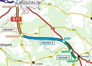Rozpoczęła się budowa S11 od Koszalina do Bobolic